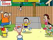 badminton with Doraemon
